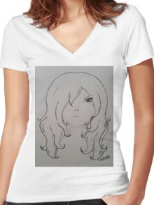 New sight Women's Fitted V-Neck T-Shirt