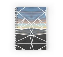Tessellated Sunset Over the Pacific Spiral Notebook