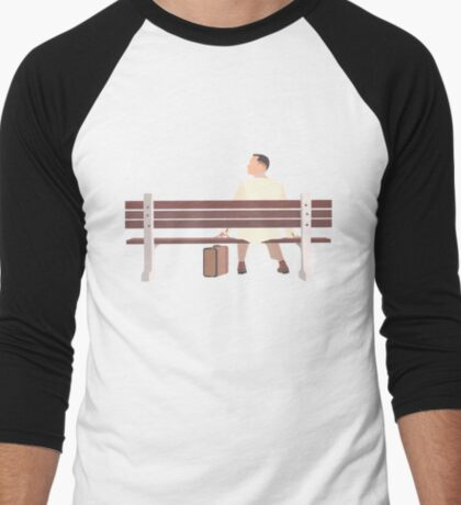 Forrest Gump Minimalist Art Work Men's Baseball ¾ T-Shirt