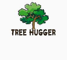 Tree Hugger - Wooden Text & Tree  Womens Fitted T-Shirt