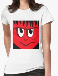 Halloween - red Frankenstein  Womens Fitted T-Shirt