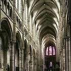 Nave Cathedral Soissons France 198405070003 by Fred Mitchell