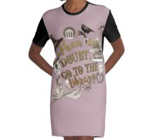 When in doubt, go to the library. Graphic T-Shirt Dress