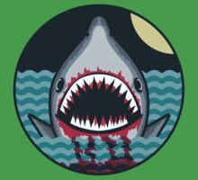 Dark night at the sea - wild shark appear Baby Tee