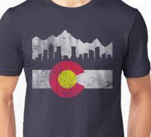 Vintage Colorado Skyline Flag Unisex T-Shirt