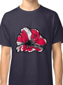 Ruby red poppy Classic T-Shirt