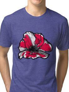 Ruby red poppy Tri-blend T-Shirt