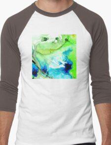 Blue And Green Abstract - Land And Sea - Sharon Cummings Men's Baseball ¾ T-Shirt
