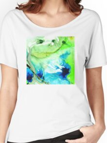 Blue And Green Abstract - Land And Sea - Sharon Cummings Women's Relaxed Fit T-Shirt