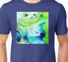 Blue And Green Abstract - Land And Sea - Sharon Cummings Unisex T-Shirt