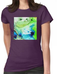 Blue And Green Abstract - Land And Sea - Sharon Cummings Womens Fitted T-Shirt