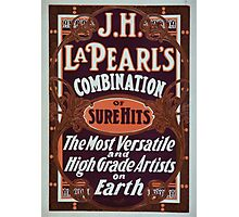Performing Arts Posters JH La Pearls combination of sure hits the most versatile and high grade artists on earth 0461 Photographic Print