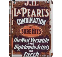 Performing Arts Posters JH La Pearls combination of sure hits the most versatile and high grade artists on earth 0461 iPad Case/Skin