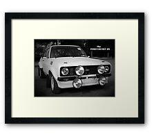 Ford Escort RS Rally Car: 1970s Retro Framed Print