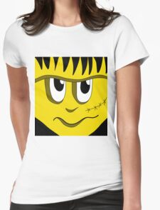 Halloween - yellow Frankenstein  Womens Fitted T-Shirt
