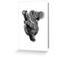 Ornate Koala Greeting Card