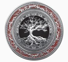 Treasure Trove: Celtic Tree of Life [Silver] Kids Clothes