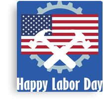 Happy Labor Day Emblem Canvas Print
