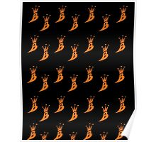 Lil' Kim The Queen Bee Logo Collection - ALL OVER PRINT EDITION (Orange) Poster