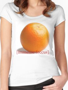 immense foucus Women's Fitted Scoop T-Shirt