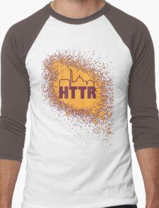 Redskins - HTTR, DC Skyline on Spray Men's Baseball ¾ T-Shirt