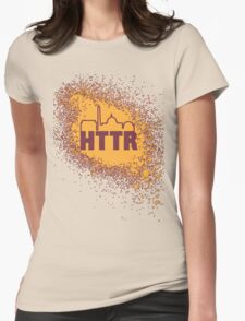 Redskins - HTTR, DC Skyline on Spray Womens Fitted T-Shirt