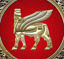 Winged Bull Lamassu [Gold] by Captain7