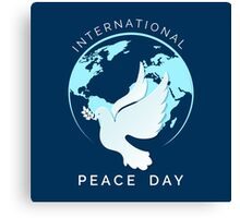 International Peace Day Illustration Canvas Print