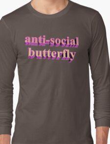 ANTISOCIAL BUTTERFLY TUMBLR Long Sleeve T-Shirt