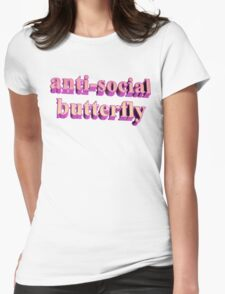 ANTISOCIAL BUTTERFLY TUMBLR Womens Fitted T-Shirt