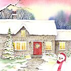 Snowy Cottage by Farida Greenfield