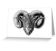 Ram Head Greeting Card