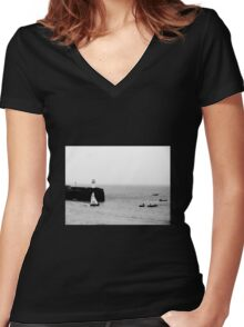 Sailing Out Women's Fitted V-Neck T-Shirt