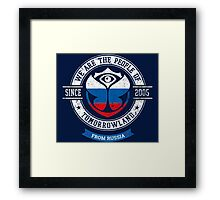 People of Tomorrowland country Flags logo Badge - Russia - Россия - Russian - русскии Framed Print