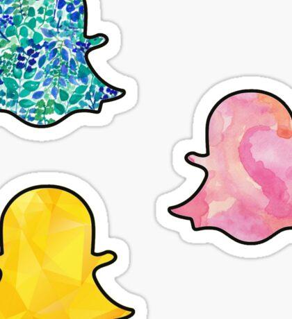 Snapchat Tri Pack Sticker