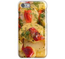 Vegetarian dish with organic vegetables iPhone Case/Skin