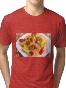 Vegetarian dish with organic vegetables Tri-blend T-Shirt