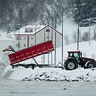 Akureyri Tractor Snow Disposal by Sue Robinson
