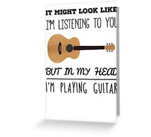 Mind guitar Greeting Card