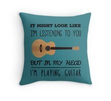 Mind guitar Throw Pillow