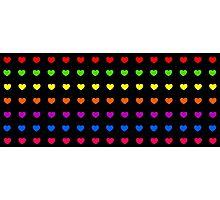 Rainbow Hearts Photographic Print