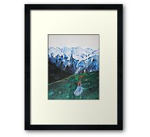She Was At The Beginning of Something Great Framed Print