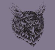 Ornate Owl Head Kids Clothes