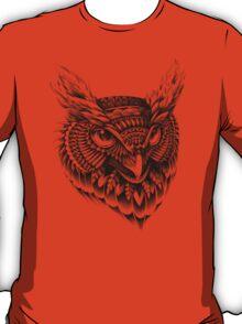 Ornate Owl Head T-Shirt