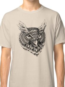 Ornate Owl Head Classic T-Shirt