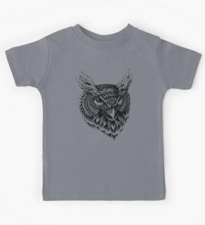 Ornate Owl Head Kids Tee