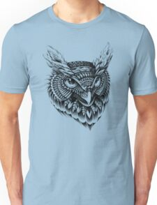 Ornate Owl Head Unisex T-Shirt