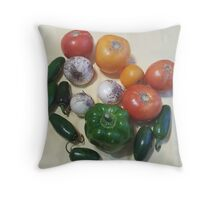 Salsa Vegetables Throw Pillow