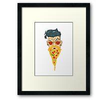 Pizza Beard Framed Print