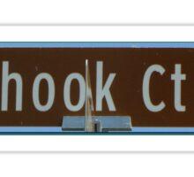 Fishhook Court Sticker